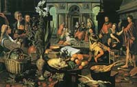 Pieter Aertsen (1507-1575). Christ in the house of Martha andMary