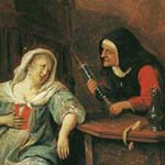 Jan Steen (1626-1779). The sick woman (fragment)