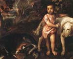 Titian (1485/90-1576). Boy with dogs in a landskape